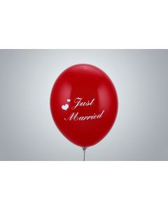 "Motivballone ""Just Married"" 35cm rot"